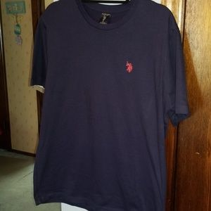 Mens Navy US Polo tee